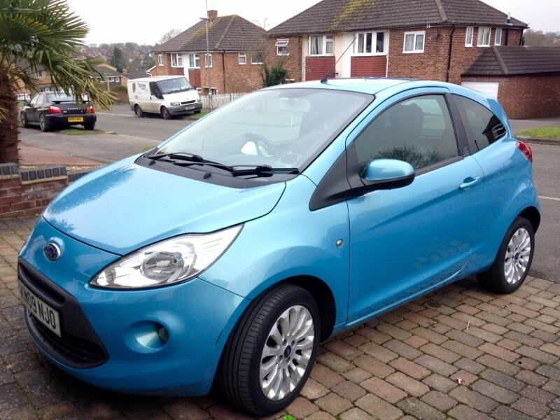 blue ford ka 2009 fantastic condition leather sporty interior in tilehurst berkshire gumtree. Black Bedroom Furniture Sets. Home Design Ideas
