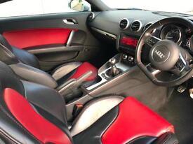 """2011 11 reg Audi TTS 2.0T Quattro Black + Black / RED Leather + 19"""" Rotas"""