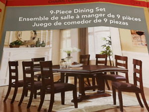 Brand new 9 piece dining room set