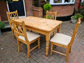 Kitchen pine table and chairs for sale