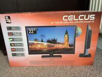 """Celcus 22"""" Full HD 1080p slim LED DVD Combi TV"""