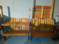 2 Bench & Table swing/Sliding Sets FOR SALE