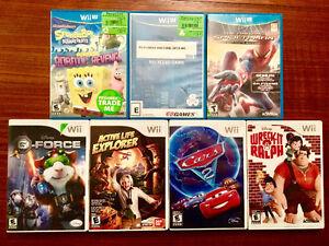 Kids Wii u and wii games