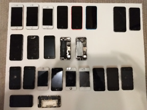 Bundle of Iphones, Parts and Accesories.