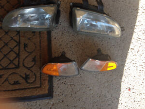 Honda Civic 92-95 OEM Head & Turn/Park Light Assemblies
