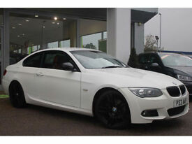 2010 BMW 320d M SPORT COUPE FACELIFT 184 BHP DIESEL 59K FSH CHEAP TAX 70 MPG ECO