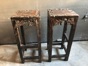 Table / tabourets (style indien)