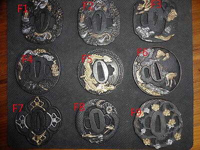 Japanese Samurai Sword Katana Tsuba Alloy Handbag Accessories Free Shipping](Katana Sword Accessories)