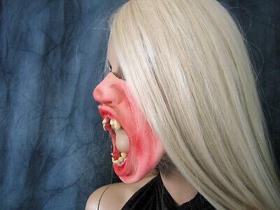 ASKE - Effekt Latex Dracula Lestate Fangzähne Gummi Maske (Vampir Latex)