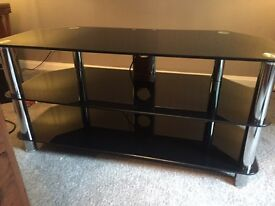 TV stand Glass black perfect condition 12 months old