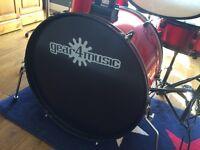 Gear4Music BDK-1 Wine red 5 piece drum kit (CHECK DESCRIPTION)