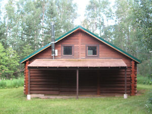 Rustic Log Cabin on 3.56 acres