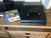 PS4 500gb with controller and some games