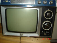 """AGS solid state 7"""" black and white TV & radio"""
