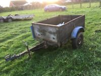 Trailer with tipping ram 5 foot x 4 foot x18 inch load area