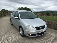 2009 Vw Polo 1.4 Tdi Match 5 door £30 road tax. Finance Available