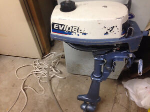 2 HP EVINRUDE 1980 OUTBOARD $400 Firm