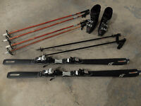 NORDICA SKIS, BOOTS AND SKI POLES