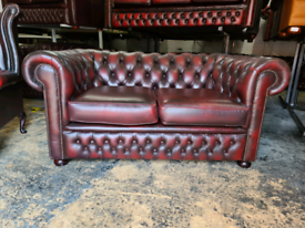 Chesterfield Oxblood 2 Seater Sofa