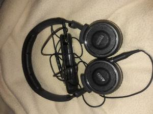AKG noise cancelling headphones.