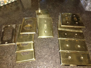 Polished Brass Receptacle Covers