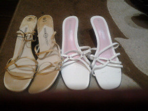 Size 8.5 and 10m jessica and prediction brand shoes