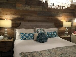 BEAUTIFUL reclaimed milled barnwood paneling design & install