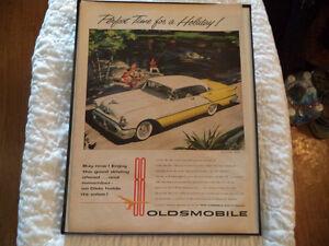 OLD OLDSMOLBILE  CLASSIC CAR FRAMED ADS Windsor Region Ontario image 5