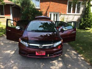 Honda civic EX 2012 manuelle 82000km