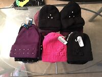 Mixed assortment of female hats