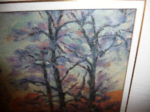 "Impressionist ""Autumn Reflections' Matted Art Print Stratford Kitchener Area image 4"