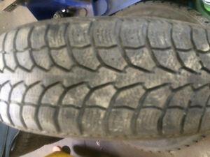 Two 195/65/15 winter claw tires