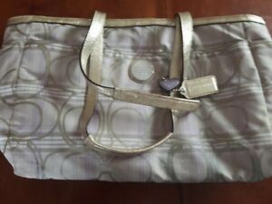Coach Original Purse with inside label Pretty Gold Accents