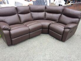 Harvey's leather reclining corner sofa ex display model