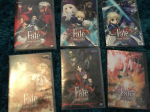 Fate Stay Night anime DVDs Vol 1-5