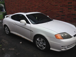 2004 Hyundai Tiburon WHITE Coupe (2 door)