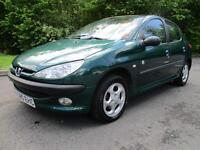 99/V PEUGEOT 206 1.4 AUTO ROLAN GARROS 5DR ONLY 68,000 MILES (P/X TO CLEAR)