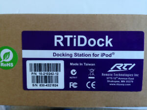 RTiDock:  Home Automation – iPod Docking Station (New, Un-used)