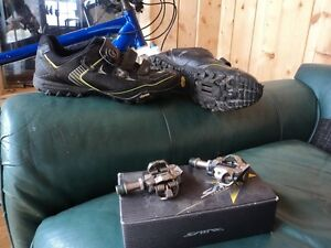 specialized mtb shoes and xt pedals