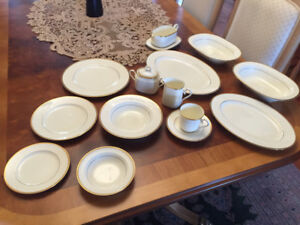 """Fine China - Noritake """"Troy"""" -  Place setting for 12 - flawless."""