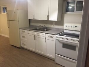 1 bedr basement apart avail immediately