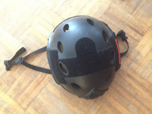 Black OneTigris combat helmet for airsoft/paintball, good as new
