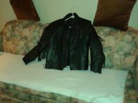 Ladies Heavy duty riding leather Jacket with Liner