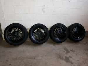 225/55R16. MICHELIN WINTER TIRES ON ALLOY RIMS
