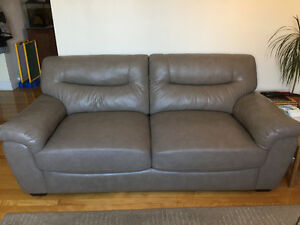 3 Faux leather couches