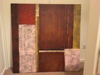 VERY LARGE ABSTRACT CANVAS PICTURE/WALL ART