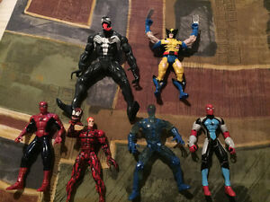 1995 marvel Spider-Man and assorted action figures