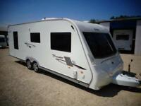 Elddis Crusader Cyclone 2010 4 Berth Fixed Island Bed Twin Axle Touring Caravan