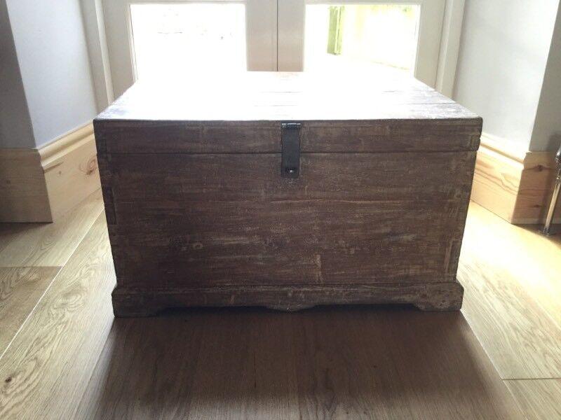 Vintage,Reclaimed Solid Trunk