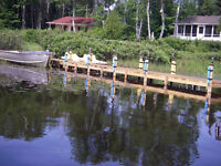 Chalet à vendre bord de l`eau Lac Nominingue